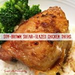Soy-Brown Sugar-Glazed Chicken Thighs