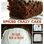 Spiced Crazy Cake – No Eggs, Milk or Butter (Pantry Cake)