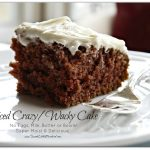 Spiced Crazy Wacky Cake (No Eggs, Milk or Butter)