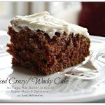 Spiced Crazy Wacky Cake (No Eggs, Milk or Butter)