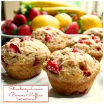 Strawberry Lemon Banana Muffins