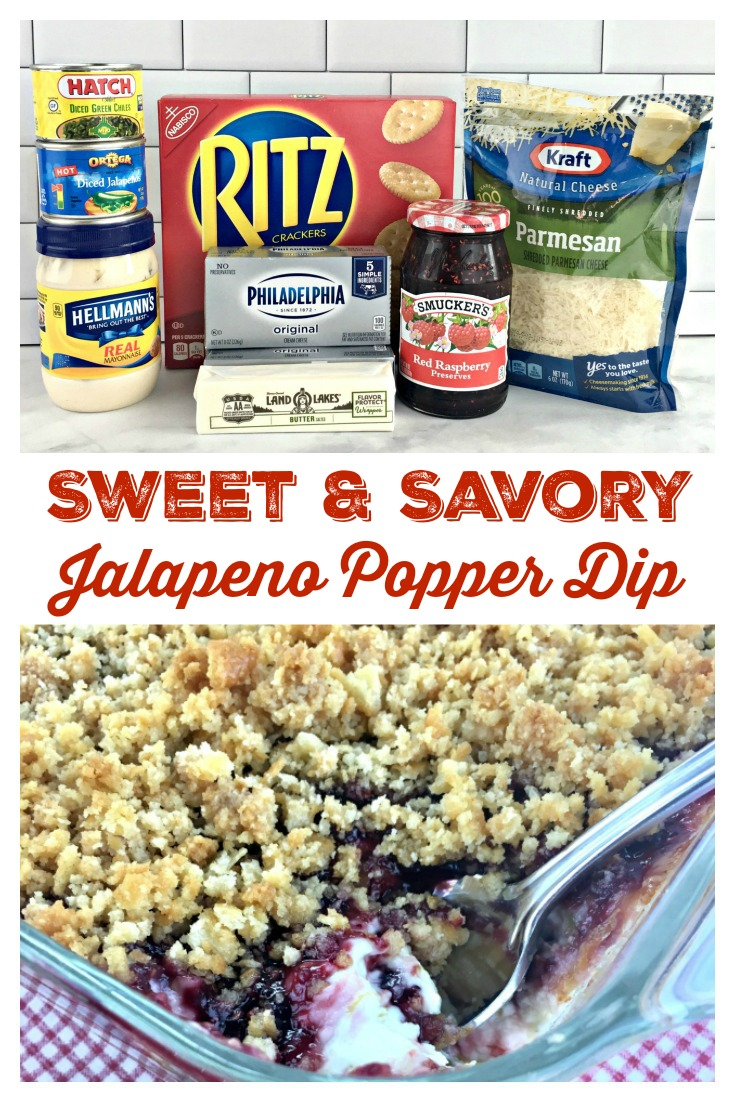 SWEET & SAVORY JALAPENO POPPER DIP - Sweet Little Bluebird