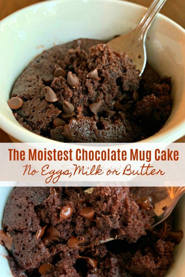 The Moistest Chocolate Mug Cake (No Eggs, Milk or Butter ...