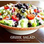 Greek Salad  and  Naan Greek Pizza