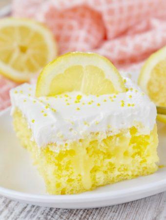 TRIPLE LEMON POKE CAKE - Weekend Potluck 372