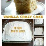 Vanilla Crazy Cake – No Eggs, Milk or Butter (EASY PANTRY CAKE)