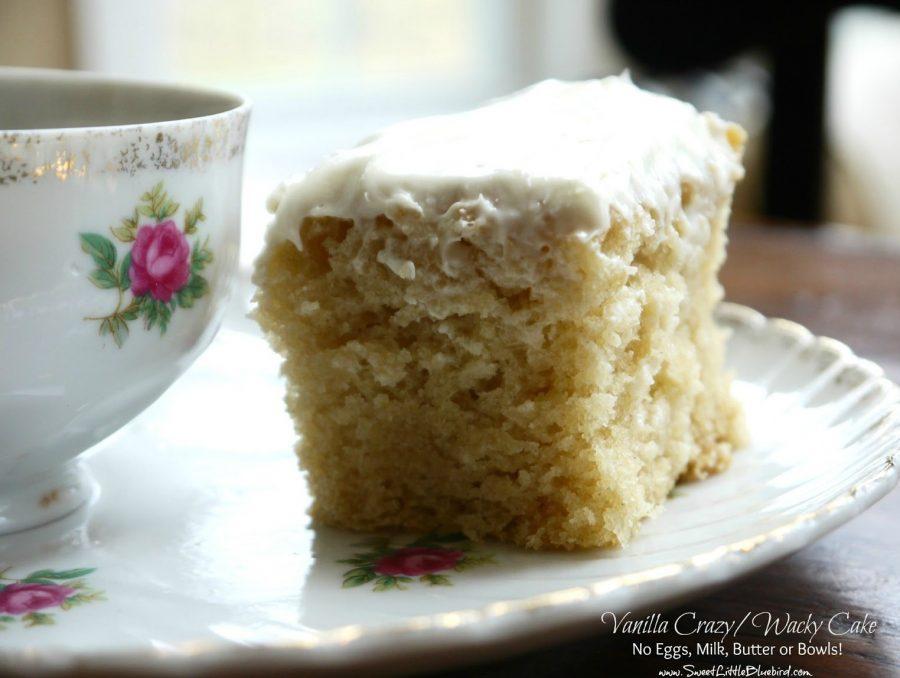 Vanilla Crazy Cake - Vanilla Wacky Cake