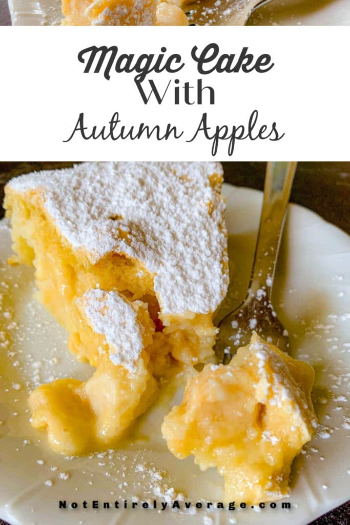 Magic Cake with Autumn Apples by Not Entirely Average