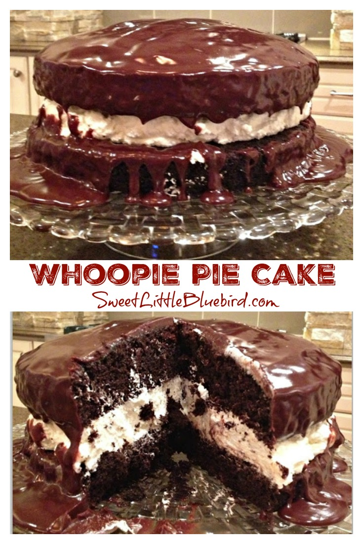 WHOOPIE PIE CAKE - Sweet Little Bluebird