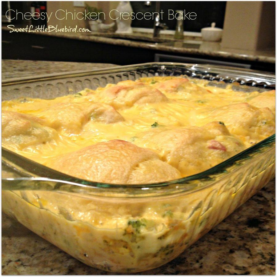 Cheesy Chicken Crescent Bake Sweet Little Bluebird