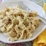 Crock Pot Chicken and Noodles – Weekend Potluck 246