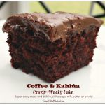 Coffee & Kahlúa Crazy Cake (no eggs, milk or butter)
