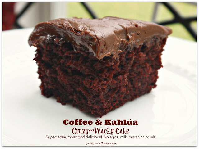 Coffee & Kahlua Crazy Cake