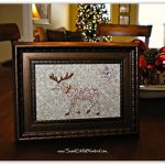 Frame it!  Framed Stickers for  Adorable &  Affordable Holiday Decor!